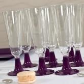 Flutes à champagne (x8) transparent prune