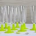 Flutes à champagne (x8) transparent vert anis