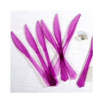 Couteaux en plastique (x12) prune