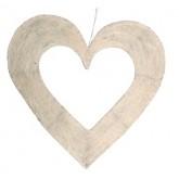 Coeur en sisal ivoire