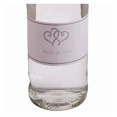 Etiquettes bouteille (x24) blanc /argent