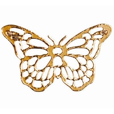 Adhésifs papillons ajourés (x25) or