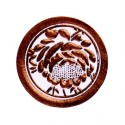 Adhésifs roses métallisées chocolat (x25)