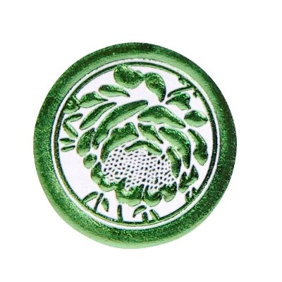 Adhésifs roses métallisées vert anis