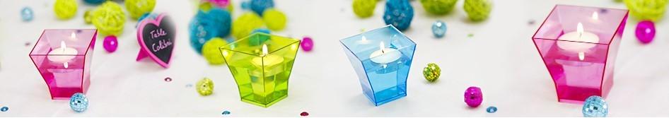 Bougies d coratives et phosphores pour d co de table - Decoration de table avec bougies ...