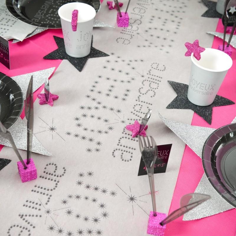 Decoration Anniversaire 18 Ans Rose Et Noir Trendsblog Fr