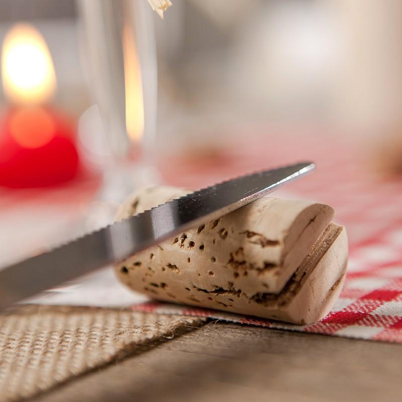 Bouchon de liège pour support à couteau