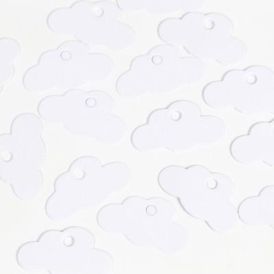 étiquettes nuage blanches