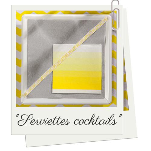 serviettes-cocktail-jaune-soleil-degradé