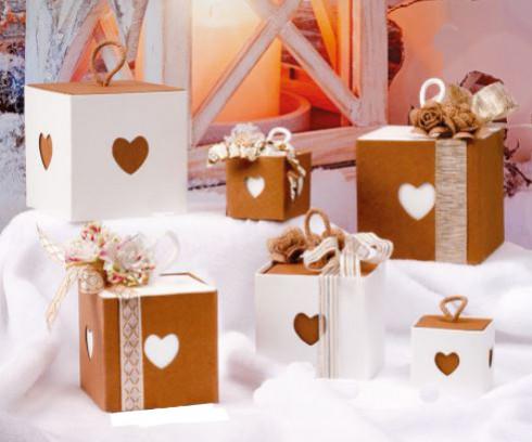 Des boîtes cœur mignonnes et pratiques